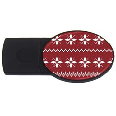 Christmas Pattern Usb Flash Drive Oval (2 Gb) by Sobalvarro