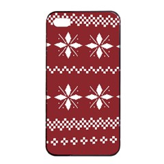 Christmas Pattern Iphone 4/4s Seamless Case (black) by Sobalvarro