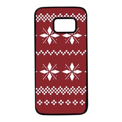 Christmas Pattern Samsung Galaxy S7 Black Seamless Case by Sobalvarro