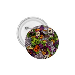 Halloween Doodle Vector Seamless Pattern 1 75  Buttons by Sobalvarro
