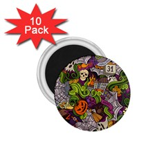 Halloween Doodle Vector Seamless Pattern 1 75  Magnets (10 Pack)  by Sobalvarro