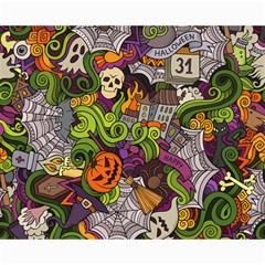Halloween Doodle Vector Seamless Pattern Canvas 16  X 20  by Sobalvarro