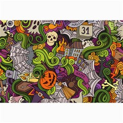 Halloween Doodle Vector Seamless Pattern Canvas 24  X 36  by Sobalvarro