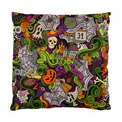 Halloween Doodle Vector Seamless Pattern Standard Cushion Case (one Side) by Sobalvarro