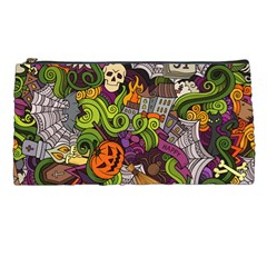Halloween Doodle Vector Seamless Pattern Pencil Cases by Sobalvarro