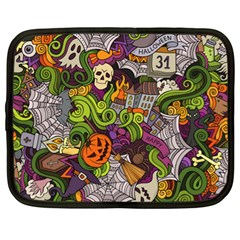 Halloween Doodle Vector Seamless Pattern Netbook Case (xl) by Sobalvarro