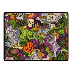 Halloween Doodle Vector Seamless Pattern Fleece Blanket (small) by Sobalvarro