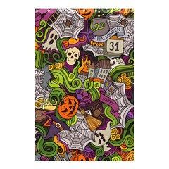 Halloween Doodle Vector Seamless Pattern Shower Curtain 48  X 72  (small)  by Sobalvarro