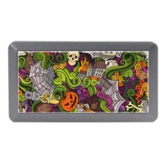 Halloween Doodle Vector Seamless Pattern Memory Card Reader (mini) by Sobalvarro