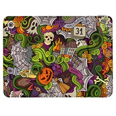 Halloween Doodle Vector Seamless Pattern Samsung Galaxy Tab 7  P1000 Flip Case by Sobalvarro