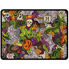 Halloween Doodle Vector Seamless Pattern Double Sided Fleece Blanket (large)  by Sobalvarro