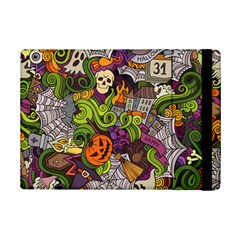 Halloween Doodle Vector Seamless Pattern Ipad Mini 2 Flip Cases