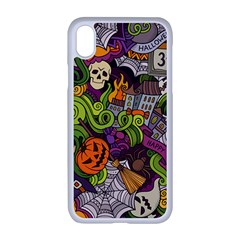 Halloween Doodle Vector Seamless Pattern Iphone Xr Seamless Case (white) by Sobalvarro