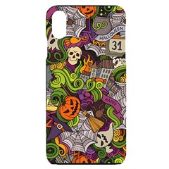 Halloween Doodle Vector Seamless Pattern Iphone Xs Max by Sobalvarro