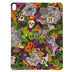 Halloween Doodle Vector Seamless Pattern Apple Ipad Pro 12 9   Black Uv Print Case by Sobalvarro