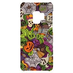 Halloween Doodle Vector Seamless Pattern Samsung S9 Black Uv Print Case by Sobalvarro