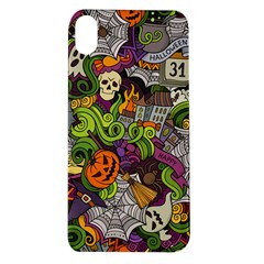 Halloween Doodle Vector Seamless Pattern Apple Iphone Xr Tpu Uv Case by Sobalvarro