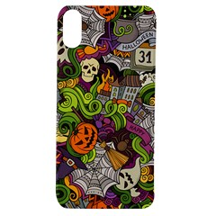 Halloween Doodle Vector Seamless Pattern Apple Iphone Xs Tpu Uv Case by Sobalvarro
