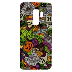 Halloween Doodle Vector Seamless Pattern Samsung Galaxy S9 Plus Tpu Uv Case by Sobalvarro