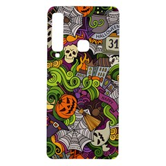 Halloween Doodle Vector Seamless Pattern Samsung Galaxy A9 Tpu Uv Case by Sobalvarro
