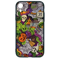 Halloween Doodle Vector Seamless Pattern Iphone Xr Soft Bumper Uv Case by Sobalvarro