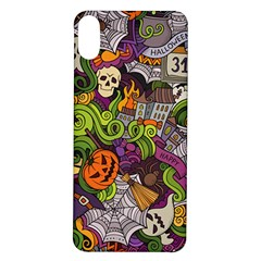 Halloween Doodle Vector Seamless Pattern Iphone X/xs Soft Bumper Uv Case