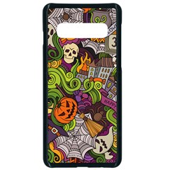 Halloween Doodle Vector Seamless Pattern Samsung Galaxy S10 Seamless Case(black) by Sobalvarro