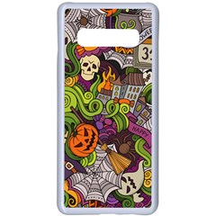 Halloween Doodle Vector Seamless Pattern Samsung Galaxy S10 Plus Seamless Case(white) by Sobalvarro