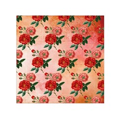 Pattern Flower Paper Small Satin Scarf (square)