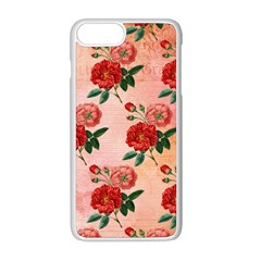 Pattern Flower Paper Iphone 8 Plus Seamless Case (white)