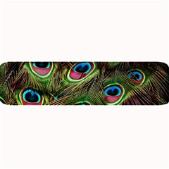 Peacock Feathers Color Plumage Large Bar Mats
