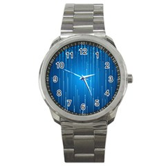 Abstract Rain Space Sport Metal Watch