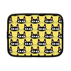 Cute Black Cat Pattern Netbook Case (small)