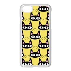 Cute Black Cat Pattern Iphone 7 Seamless Case (white)
