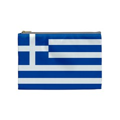 Greece Flag Greek Flag Cosmetic Bag (medium) by FlagGallery