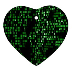 Abstract Plaid Green Ornament (heart)