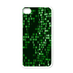 Abstract Plaid Green Iphone 4 Case (white)