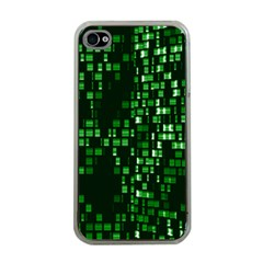 Abstract Plaid Green Iphone 4 Case (clear)