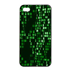 Abstract Plaid Green Iphone 4/4s Seamless Case (black)