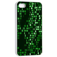 Abstract Plaid Green Iphone 4/4s Seamless Case (white)