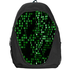 Abstract Plaid Green Backpack Bag