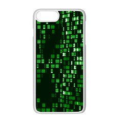 Abstract Plaid Green Iphone 8 Plus Seamless Case (white)