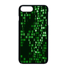 Abstract Plaid Green Iphone 8 Plus Seamless Case (black)