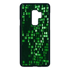 Abstract Plaid Green Samsung Galaxy S9 Plus Seamless Case(black)
