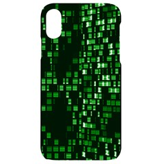 Abstract Plaid Green Iphone Xr Black Uv Print Case