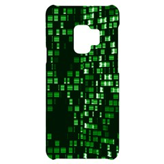 Abstract Plaid Green Samsung S9 Black Uv Print Case