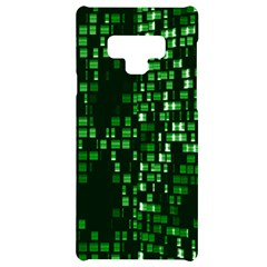 Abstract Plaid Green Samsung Note 9 Black Uv Print Case