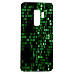 Abstract Plaid Green Samsung Galaxy S9 Plus Tpu Uv Case