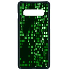 Abstract Plaid Green Samsung Galaxy S10 Seamless Case(black)