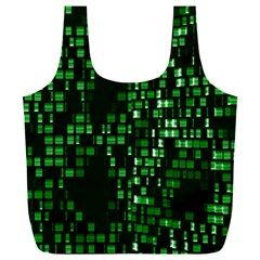 Abstract Plaid Green Full Print Recycle Bag (xxl)